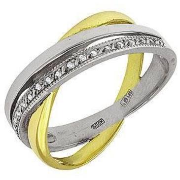 кольцо c бриллиантами из желтого золота 1403265