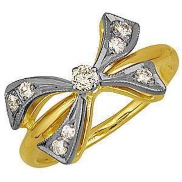 кольцо c бриллиантами из желтого золота 1403521