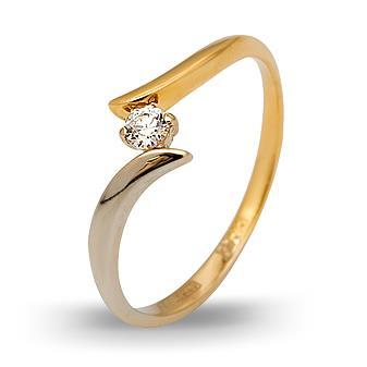Кольцо c бриллиантом из желтого золота Ко17-5КБ-1б