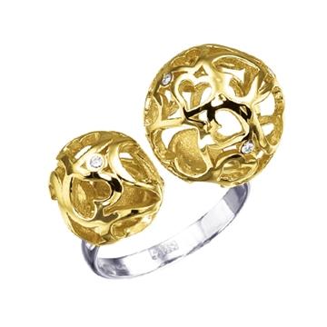 Кольцо 'ДЛЯ ЛЮБИМОЙ' из желтого золота К-41001н