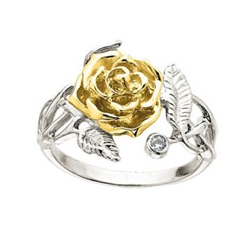 Кольцо 'ДЖУЛИЯ' с бриллиантами из желтого золота К-14043