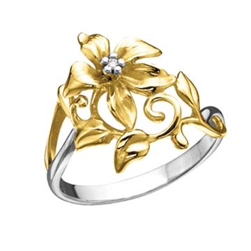 Кольцо 'ЭДЕЛЬВЕЙС' из желтого золота К-14047