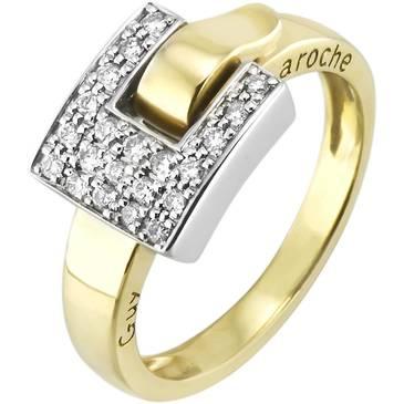 Кольцо Guy Laroche из желтого золота TU012XB3