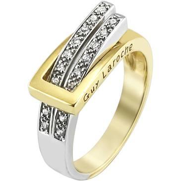 Кольцо Guy Laroche с бриллиантами из белого и из желтого золота tw006xb3