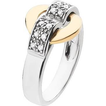 Кольцо Guy Laroche с бриллиантом из желтого золота ty006xb3