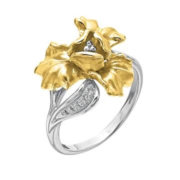 Кольцо 'ИРИС' из желтого золота К-14041