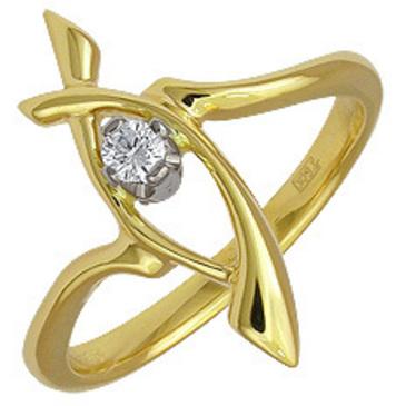 кольцо из желтого золота 17031587