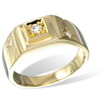 Кольцо мужское с бриллиантами из желтого золота R20209YG от EVORA