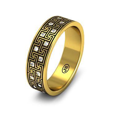 Кольцо обручальное с бриллиантами из желтого золота из желтого золота WD1009YD