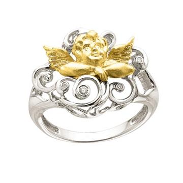 Кольцо 'ОТ ВСЕГО СЕРДЦА' из желтого золота К-24023