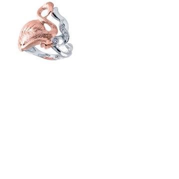 Кольцо 'РОЗОВЫЙ ФЛАМИНГО' из желтого золота К-24058