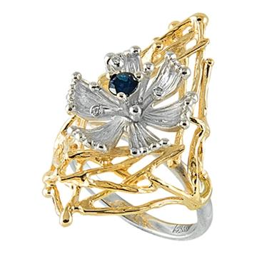 Кольцо ВАСИЛИСА из желтого золота К-14052