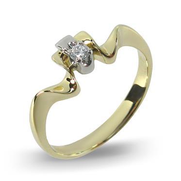 кольцо Волшебный гребень из желтого золота Ко3-5ЖБ-1б