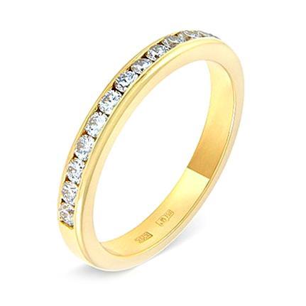 Обручальное кольцо c бриллиантами из желтого золота 14037490