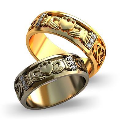 Обручальное кольцо Мое сердце в твоих руках из желтого золота dg_ring_012