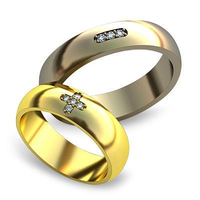 Обручальное кольцо с бриллиантами из желтого золота dg_ring_013