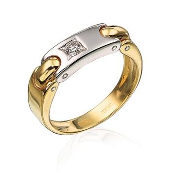 Золотое кольцо Денди из желтого золота К-34001