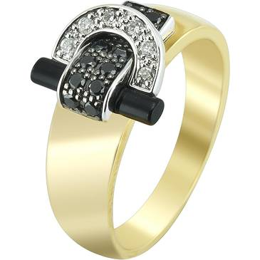 Кольцо Guy Laroche с бриллиантом из желтого золота tg044xdbn