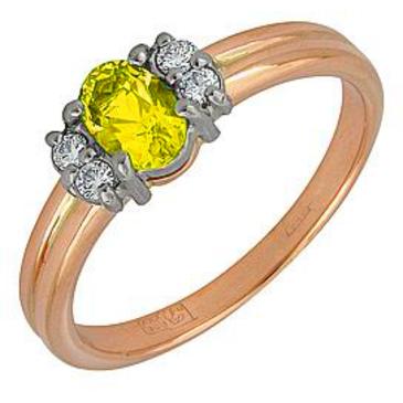 кольцо c цитрином из желтого золота 17921074 от EVORA