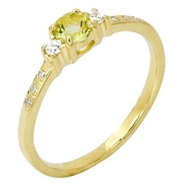 кольцо c цитрином из желтого золота 17921296 от EVORA