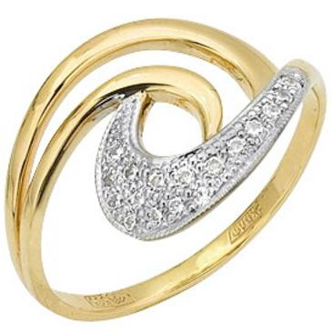 кольцо c фианитами из желтого золота 17027344