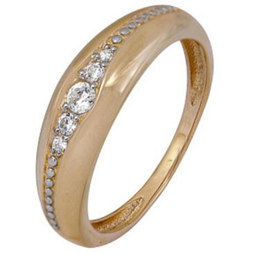 кольцо c фианитами из желтого золота 1200202461