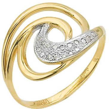 Кольцо c фианитами из желтого золота 17027345