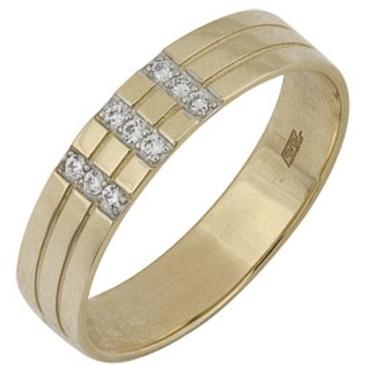 кольцо c фианитами из желтого золота 17023273