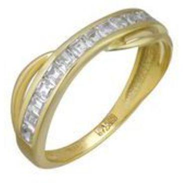 кольцо c фианитами из желтого золота 17027392