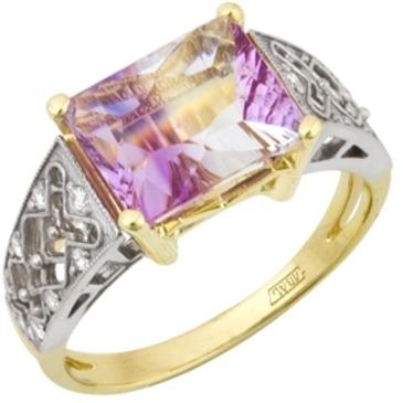 кольцо c кварцем из желтого золота 17883240