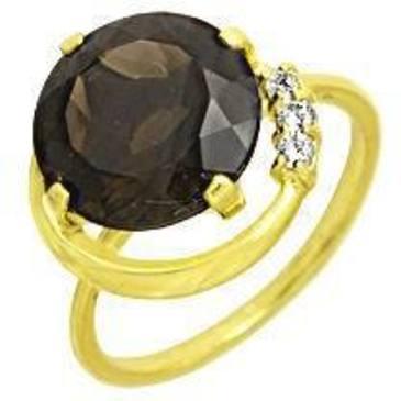 кольцо c раухтопазом из желтого золота 1793000044