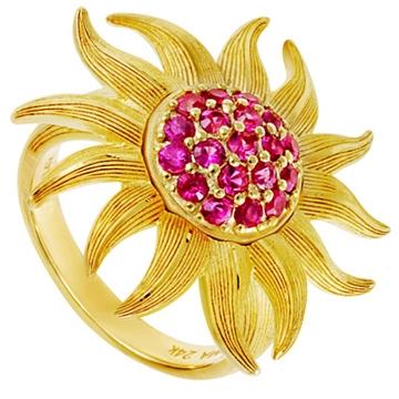Кольцо 'PRIMA GOLD 165R' из желтого золота,артикул 165R0162-01