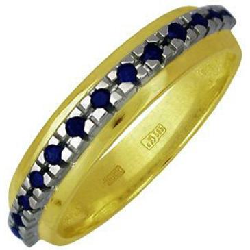 кольцо c сапфирами из желтого золота 17501188
