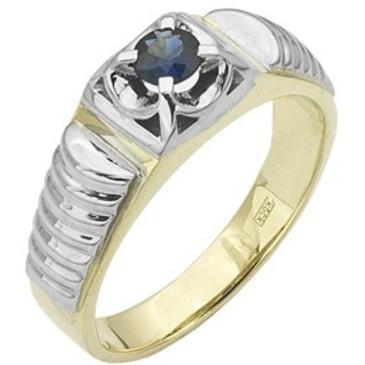 кольцо c сапфиром из желтого золота 14502934