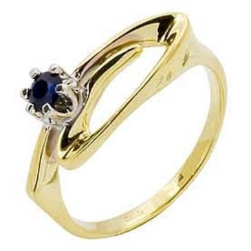 кольцо c сапфиром из желтого золота 14502872