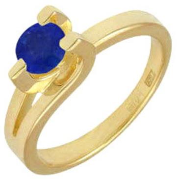 кольцо c сапфиром из желтого золота 14501584