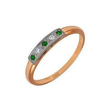 кольцо c шпинелью синтетической из желтого золота 1711243