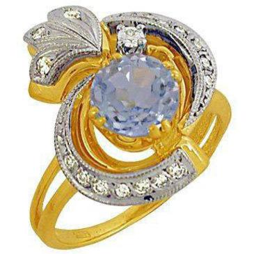 кольцо c топазом из желтого золота 1783570