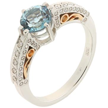 кольцо c топазом из желтого золота 12833487