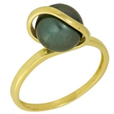 кольцо c жемчугом из желтого золота 1243001359