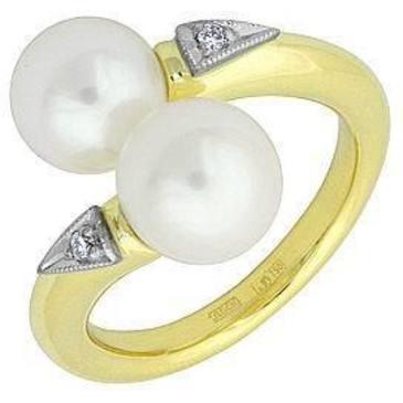 кольцо c жемчугом из желтого золота 14631995