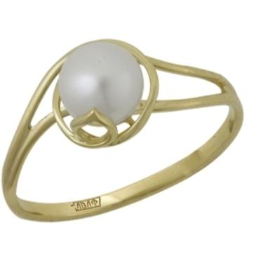 кольцо c жемчугом из желтого золота 17603239