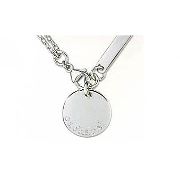 Колье без камня из серебра 34817
