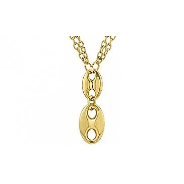 Колье с золотым покрытием из серебра 70671