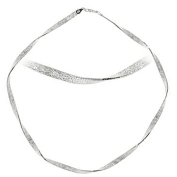 колье серебряная лента из серебра 0219hk2252