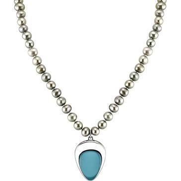 Ожерелье Misaki из серебра QCUNUSHUAIABLUE