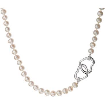 Ожерелье Misaki с жемчугом из серебра QCUNCOEURPEARL