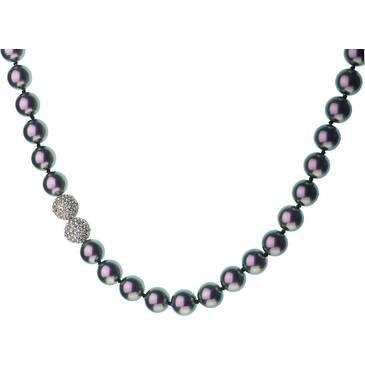 Ожерелье Misaki с жемчугом из серебра qcrnazure