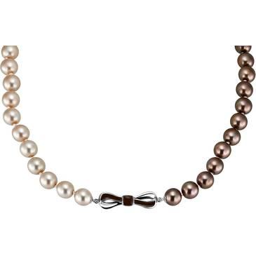Ожерелье Misaki из серебра QCRNRIBBONSHORTPEA