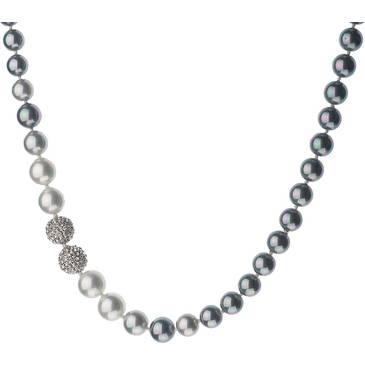 Ожерелье Misaki с жемчугом из серебра qcrnsamantha